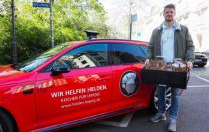Gregor Remke liefert Essen an die Helden des Alltags. Foto: SC DHfK