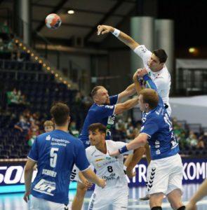 Marko Mamic und Lucas Krzikalla waren mit je 6 Treffern die erfolgreichsten Torschützen der Partie. Foto: Karsten Mann