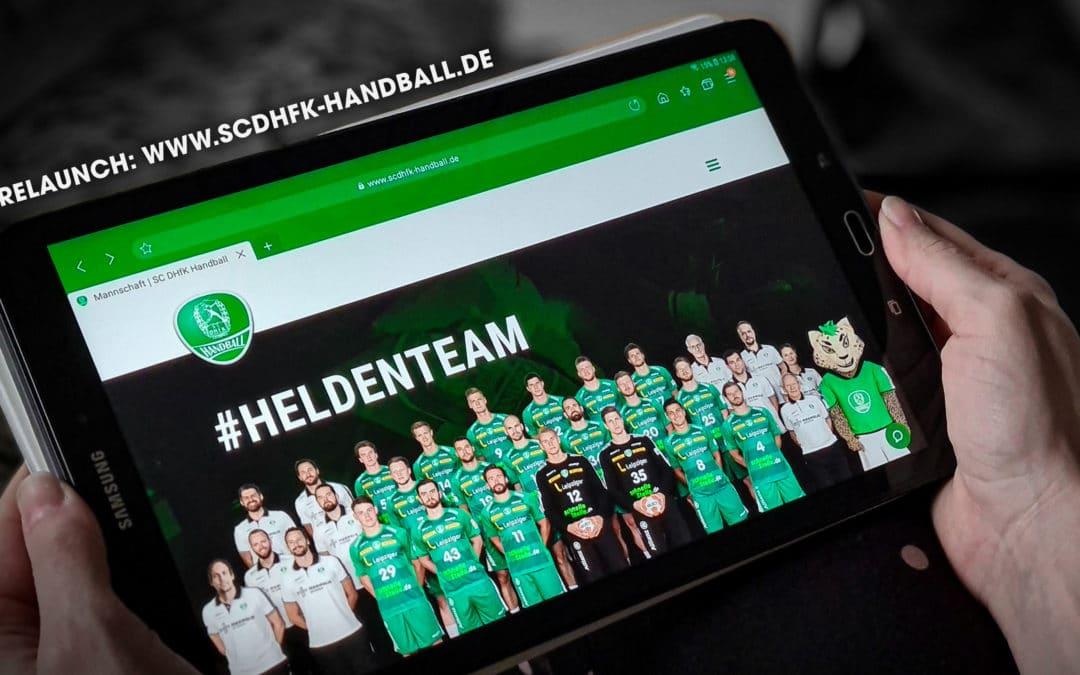 Relaunch: Homepage der Leipziger Handballhelden erstrahlt in neuem Glanz