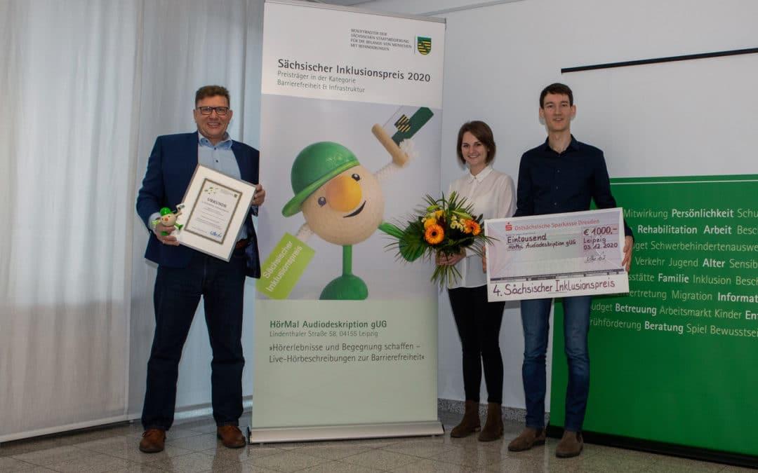 Sächsischer Inklusionspreis 2020 geht an die Macher der DHfK-Audiodeskription