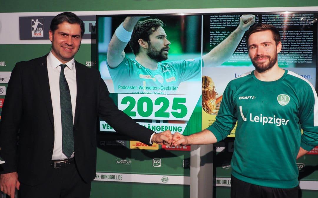 Auch Lukas Binder unterschreibt einen neuen Vertrag und bleibt noch lange beim SC DHfK Handball