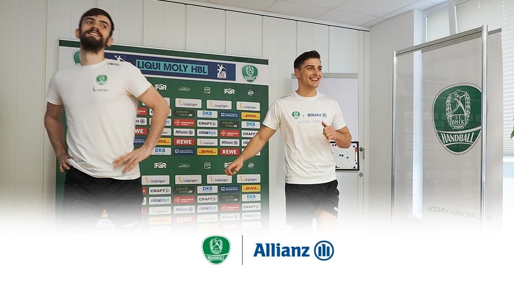 Bundesligaprofis des SC DHfK Leipzig schlüpfen beim Homeschooling in die Lehrer-Rolle