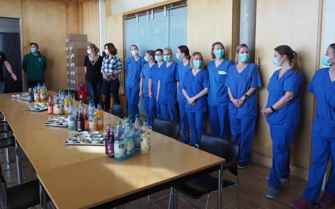 SC DHfK bedankt sich bei Virologie der Uniklinik Leipzig