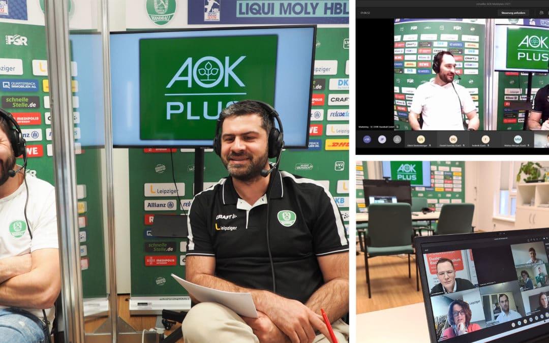 AOK Marktplatz bereitet Nachwuchstalente des SC DHfK Handball auf die berufliche Zukunft vor