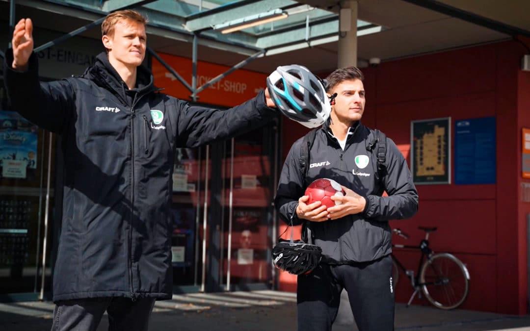 Leipziger Handballprofis fahren MIT DEM RAD ZUR ARBEIT