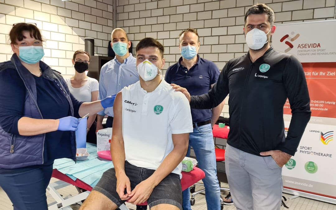 DHfK-Handballer mit AstraZeneca geimpft