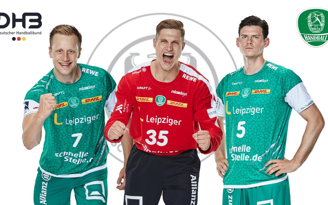 Unser Nationalmannschaftstrio! Joel Birlehm, Luca Witzke und Simon Ernst erhalten DHB-Einladung.